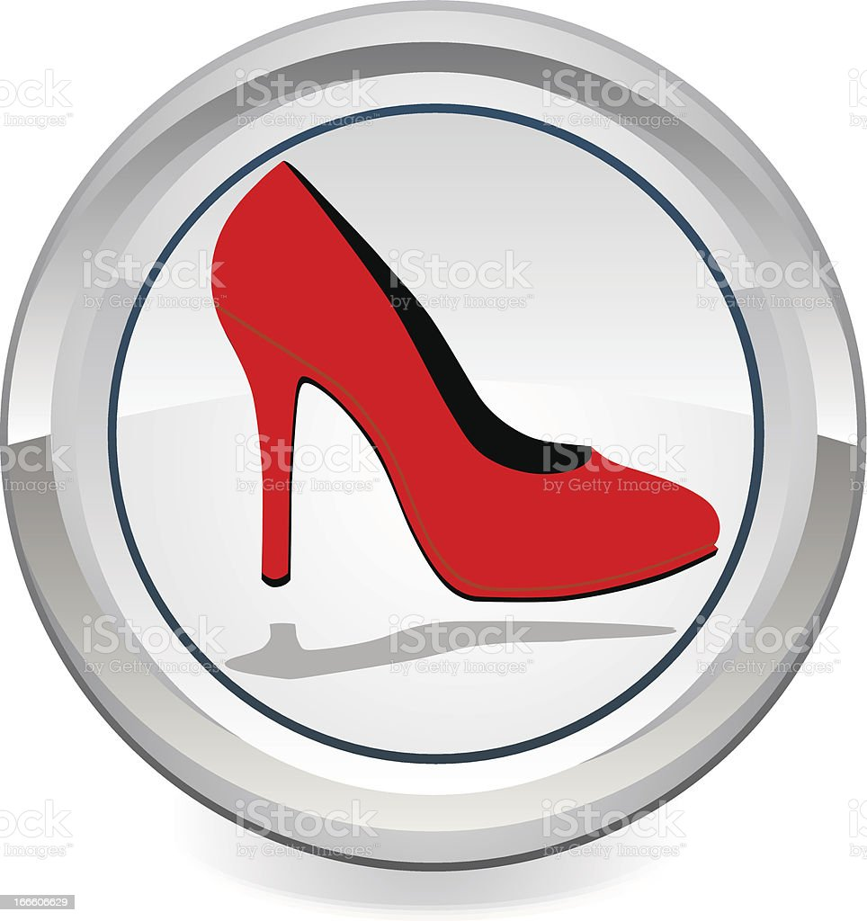 Red high heel women shoes royalty-free stock vector art