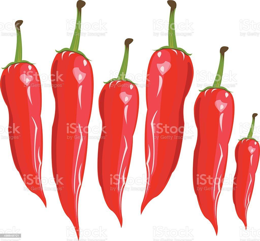 red ?hili pepper - Illustration royalty-free stock vector art