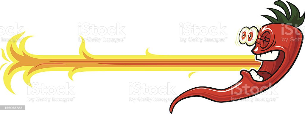 Red hot pepper royalty-free stock vector art