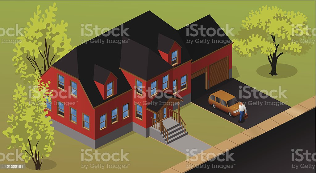 Red House royalty-free stock vector art