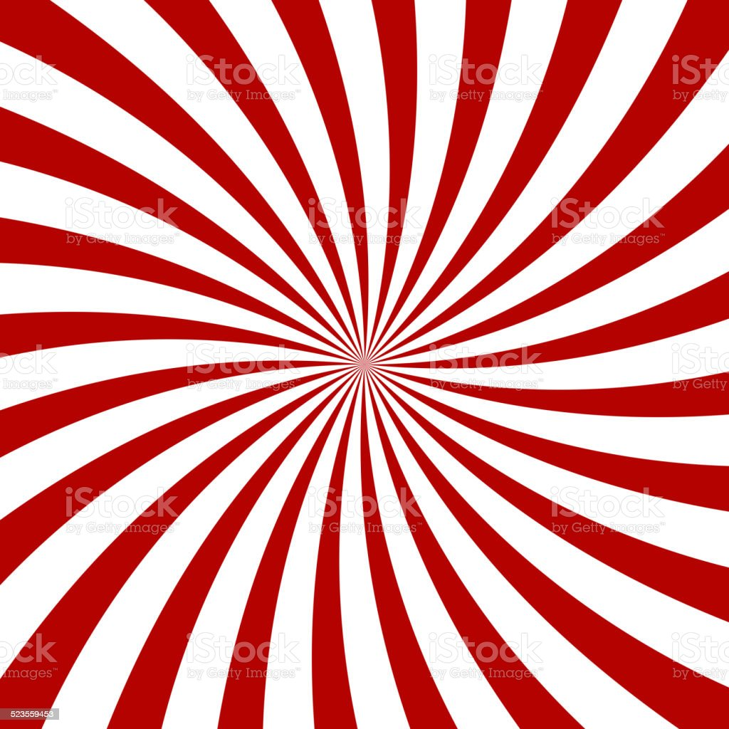 Red Hypnosis Spiral Pattern. Optical illusion. Vector vector art illustration