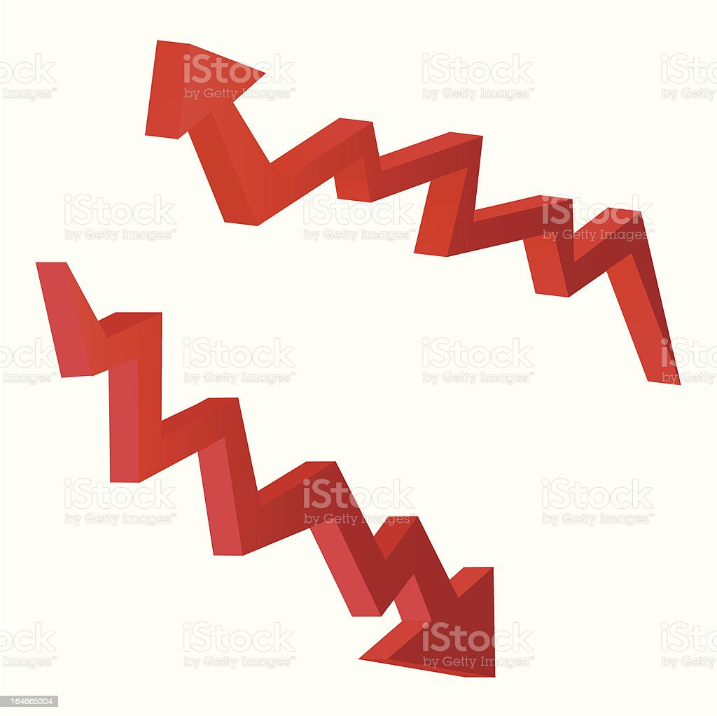 red index arrow royalty-free stock vector art