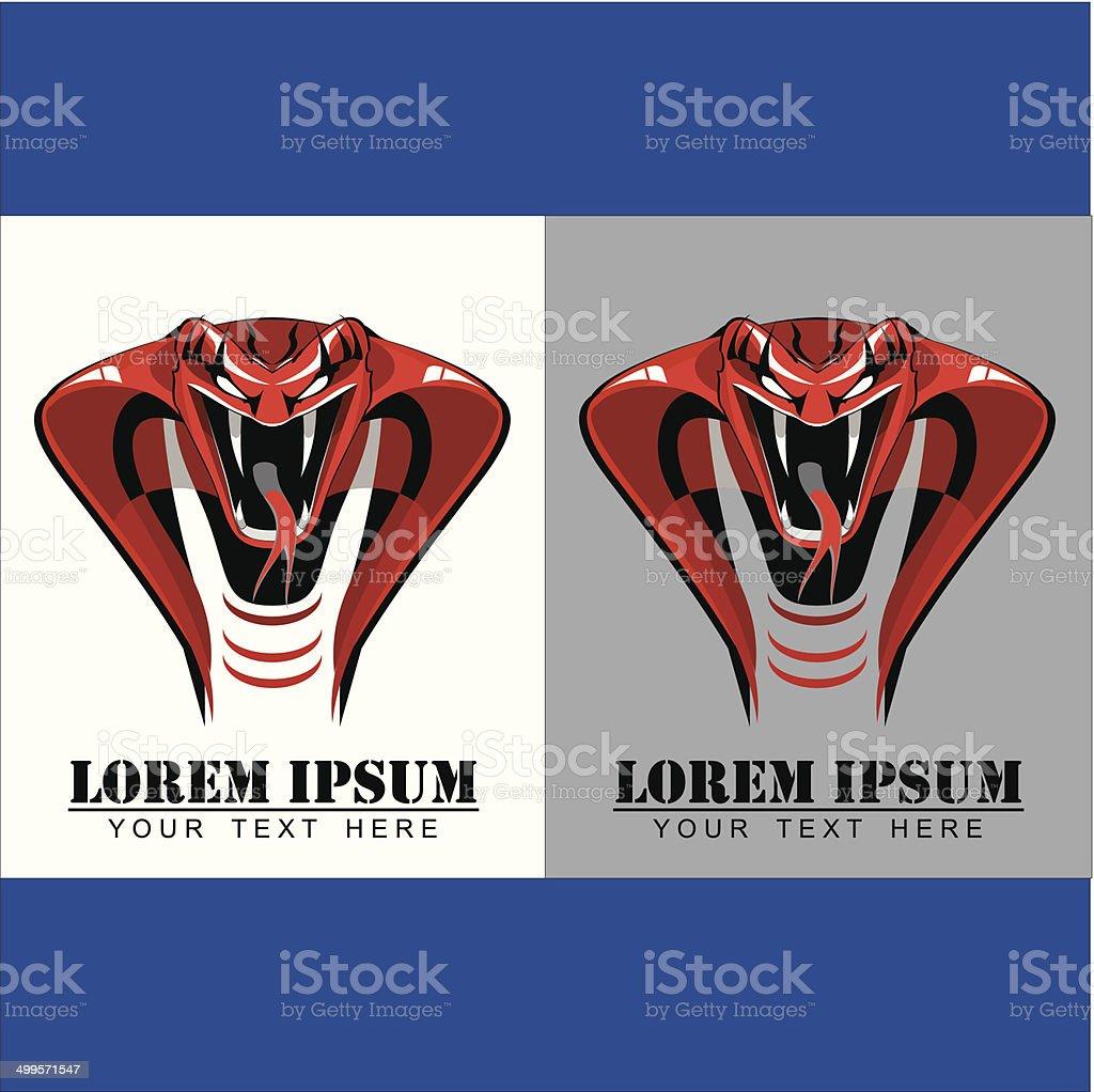 Red King Cobra vector art illustration