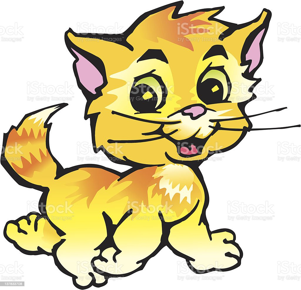 red kitten royalty-free stock vector art