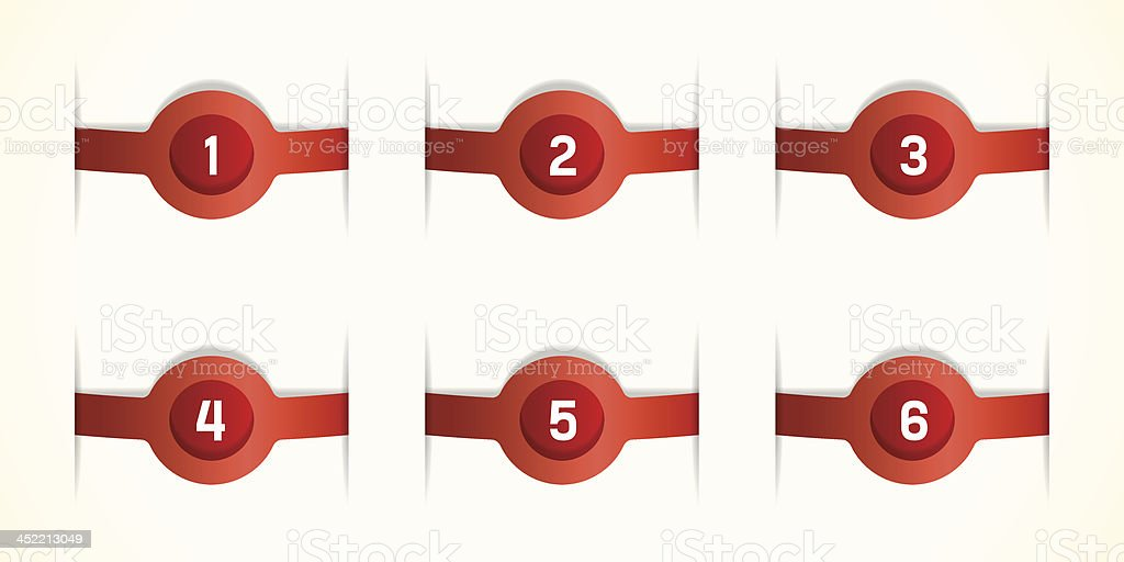 Red labels royalty-free stock vector art