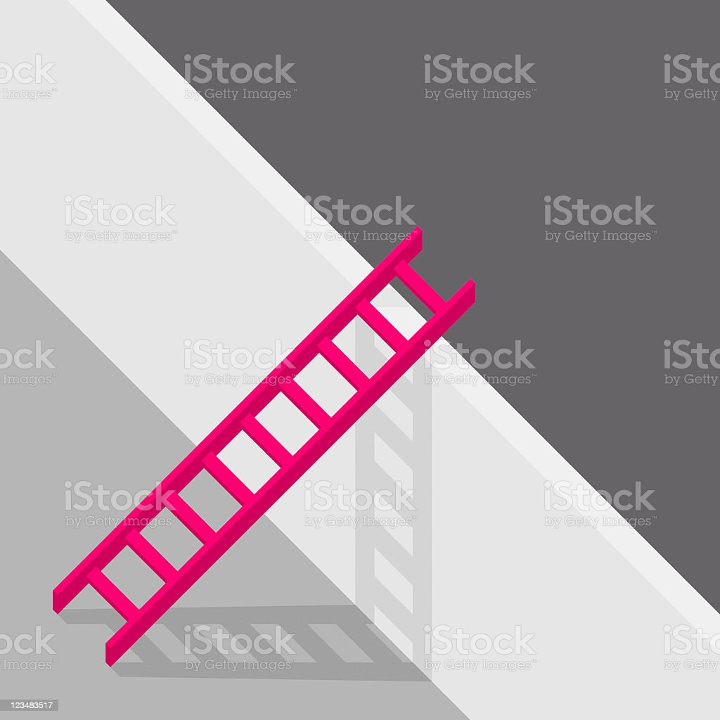 Red Ladder royalty-free stock vector art