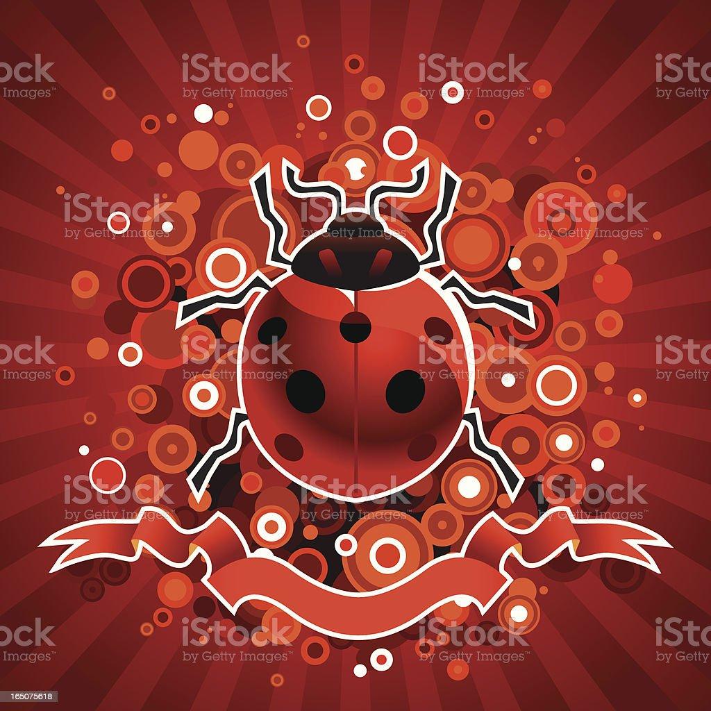 Red Ladybug royalty-free stock vector art