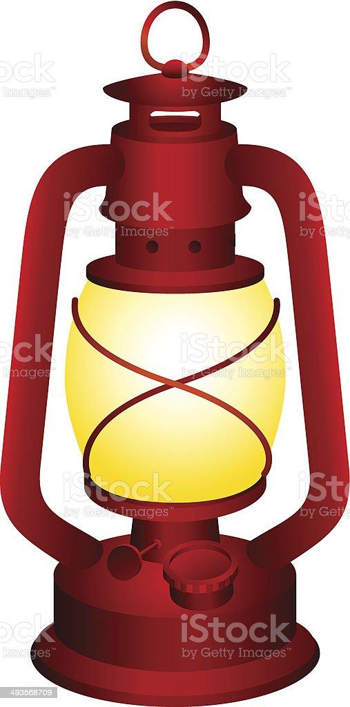 Red lantern vector art illustration