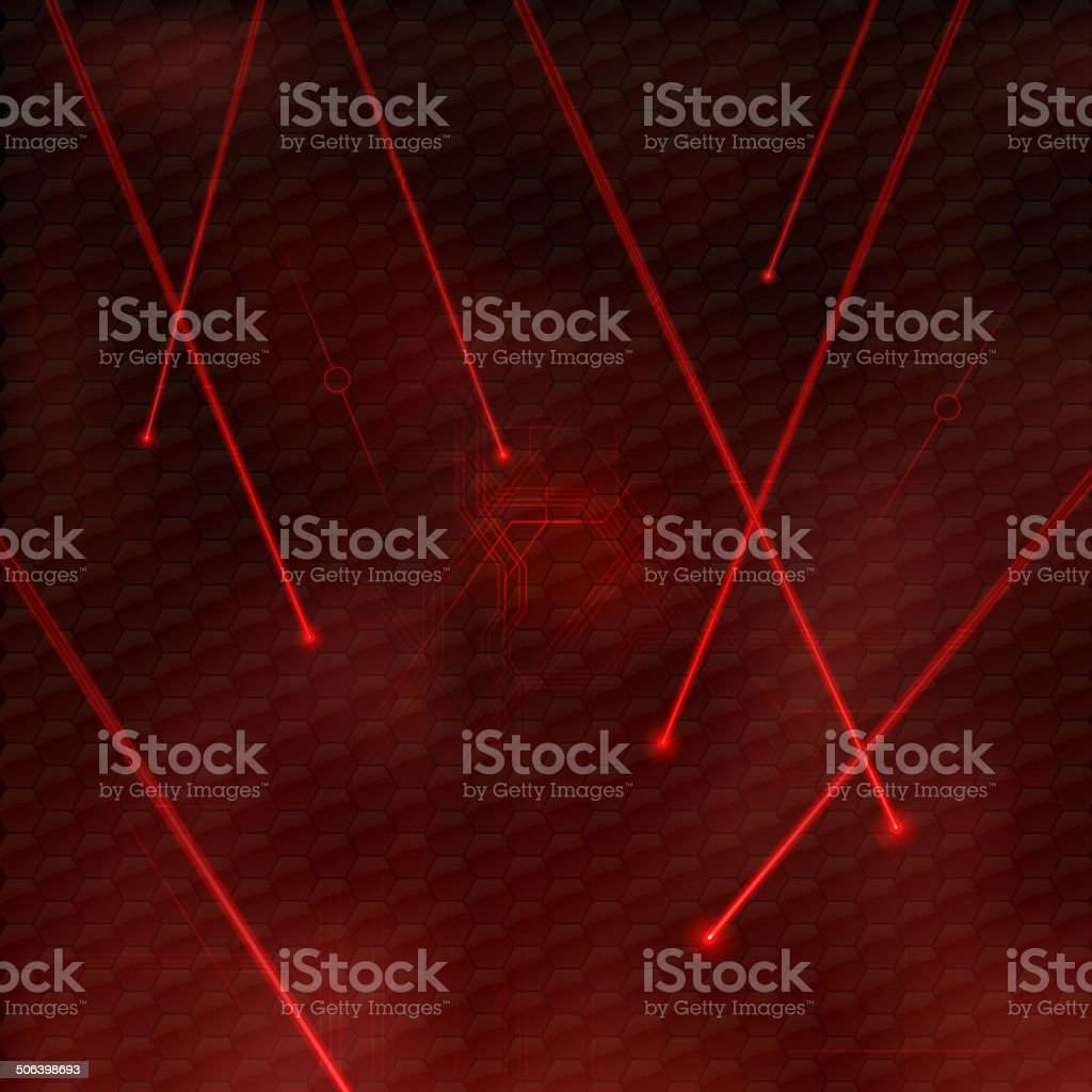 Red Lasers vector art illustration