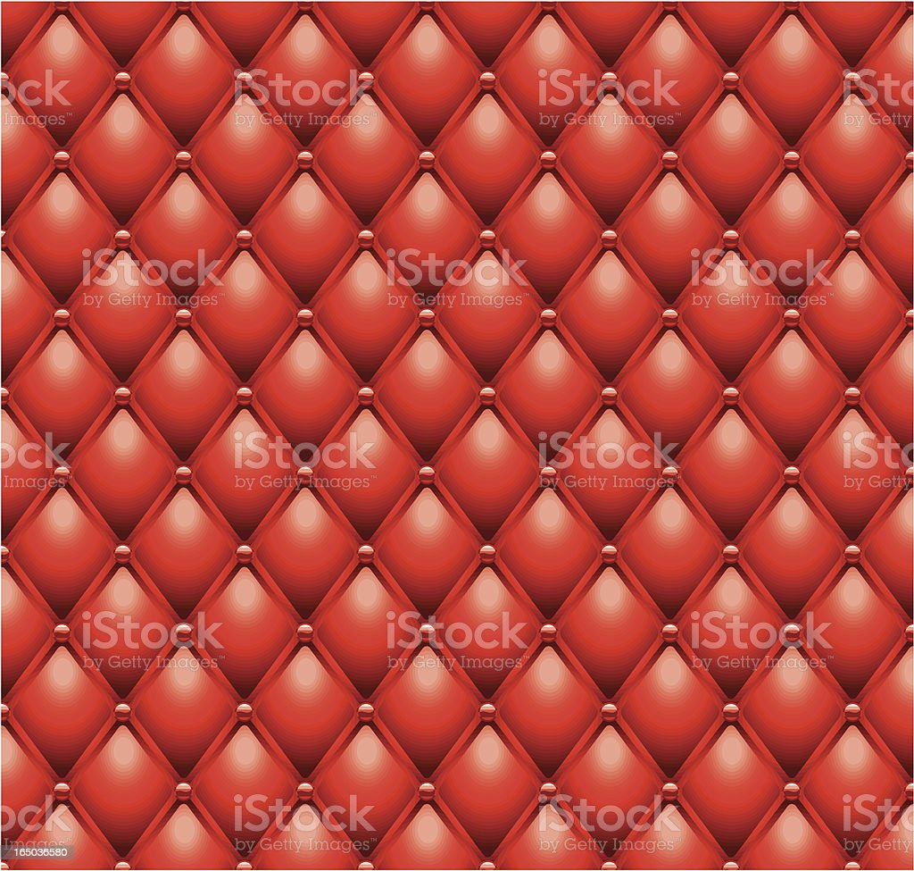 Red leather cushion royalty-free stock vector art