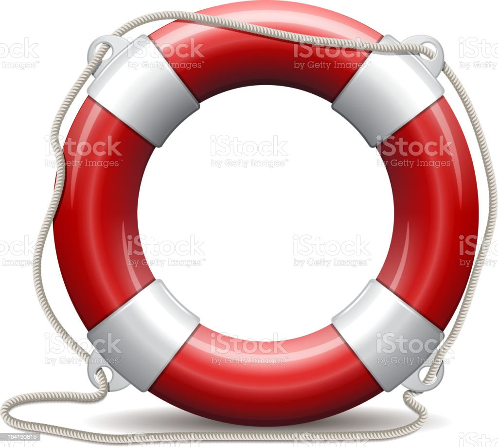 Red life buoy. royalty-free stock vector art