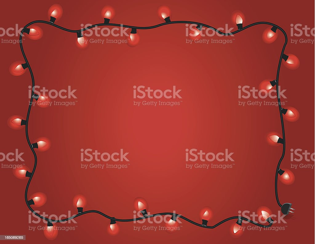 Red light frame royalty-free stock vector art
