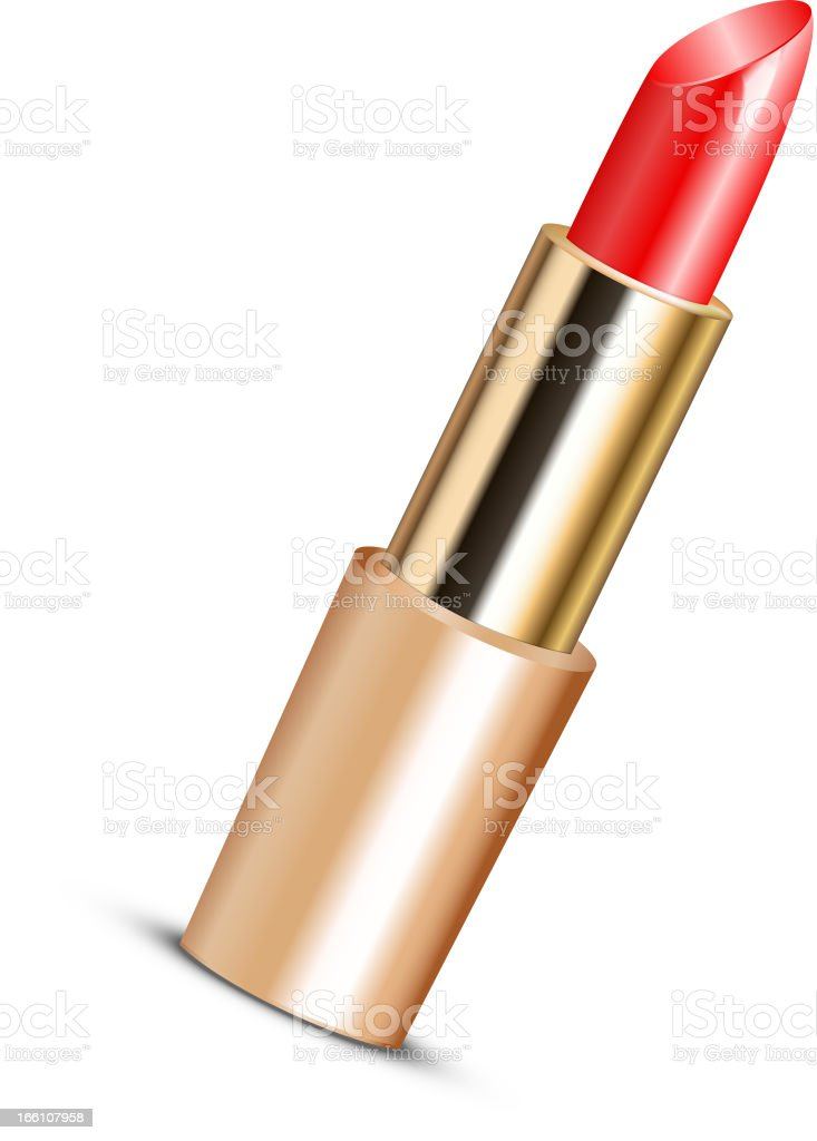 red lipstick royalty-free stock vector art