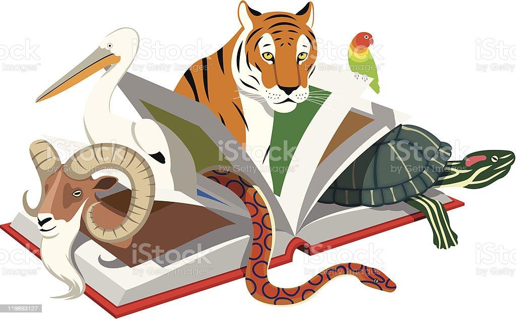 Red List of Threatened Species vector art illustration