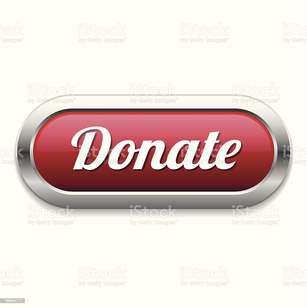 Red long donate button royalty-free stock vector art