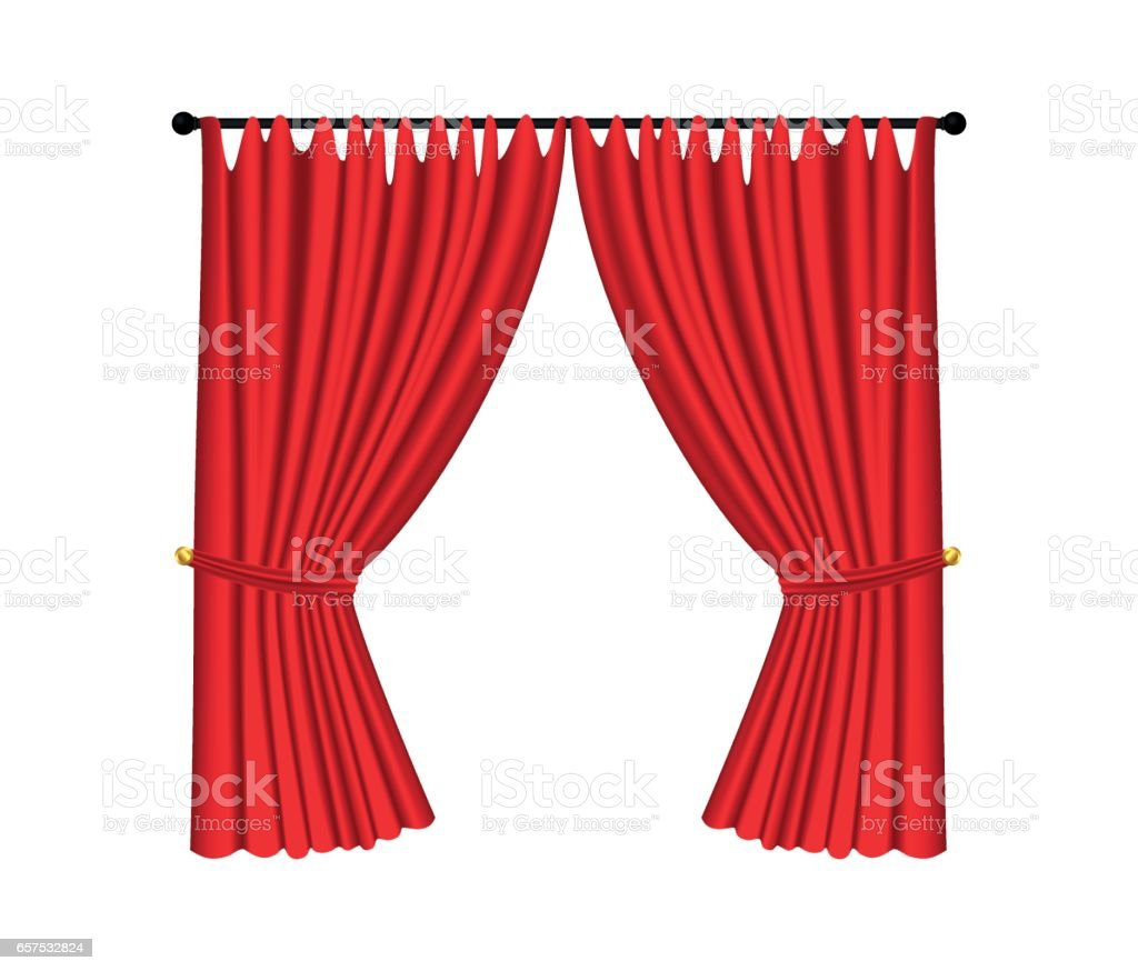 Royalty free or white curtain background drapes royalty free stock - Red Luxury Curtains And Draperies On White Background Vetor E Ilustra O Royalty Free Royalty