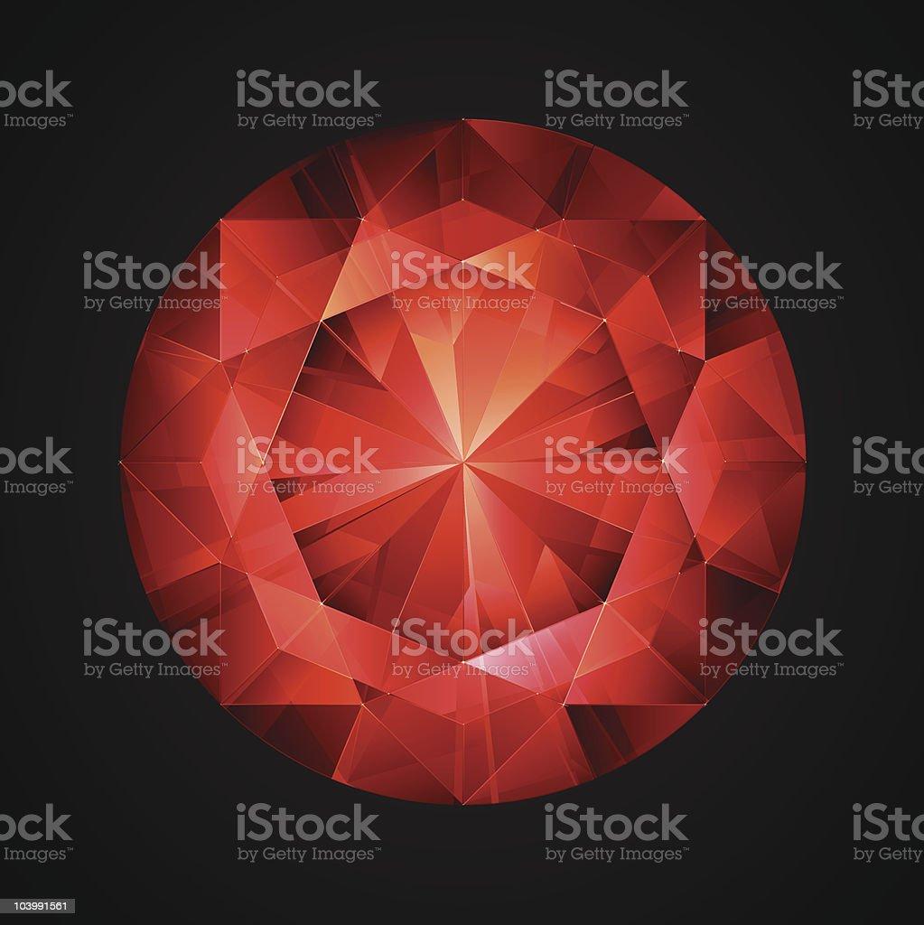 Red Luxury Jewel royalty-free stock vector art
