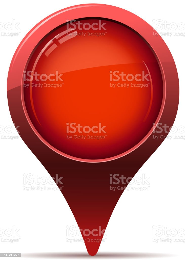 red map pointer vector art illustration
