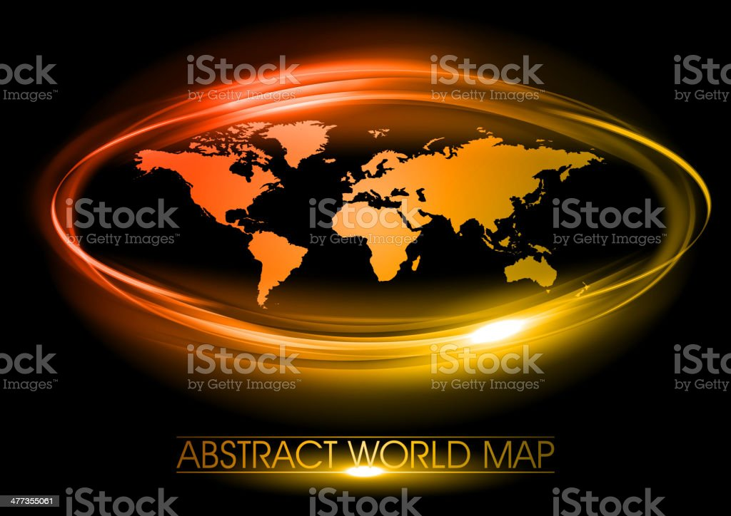 red map royalty-free stock vector art