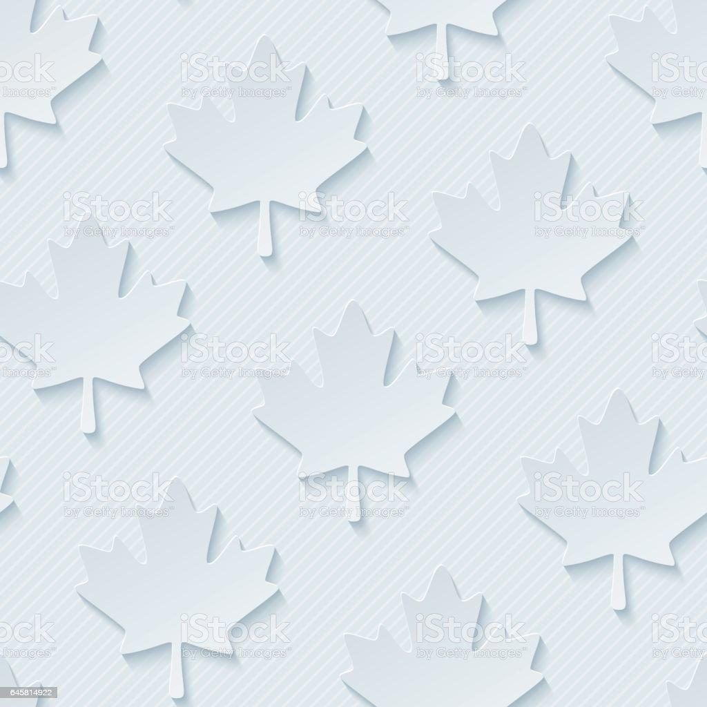 Red maple leaves seamless wallpaper pattern. vector art illustration