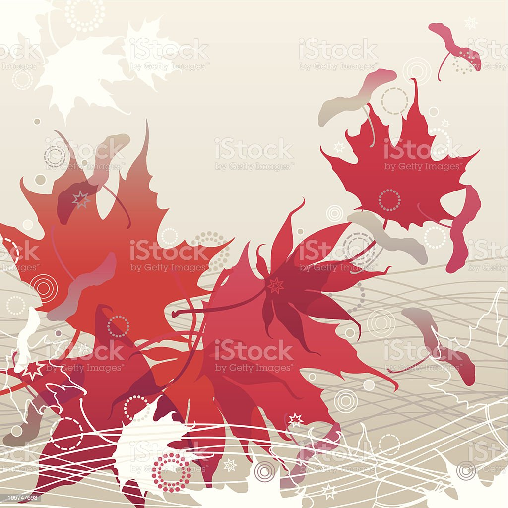 Red Maple Leaves royalty-free stock vector art