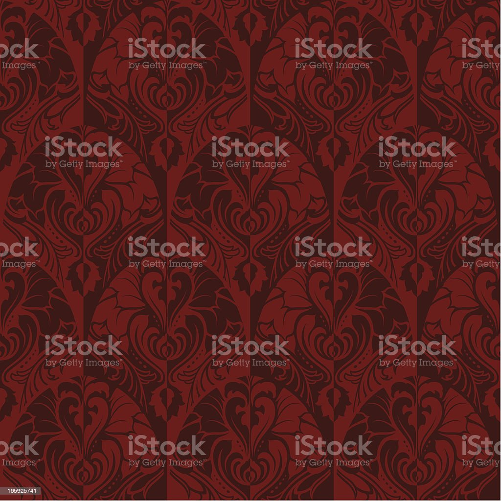 Red motif wallpaper background royalty-free stock vector art