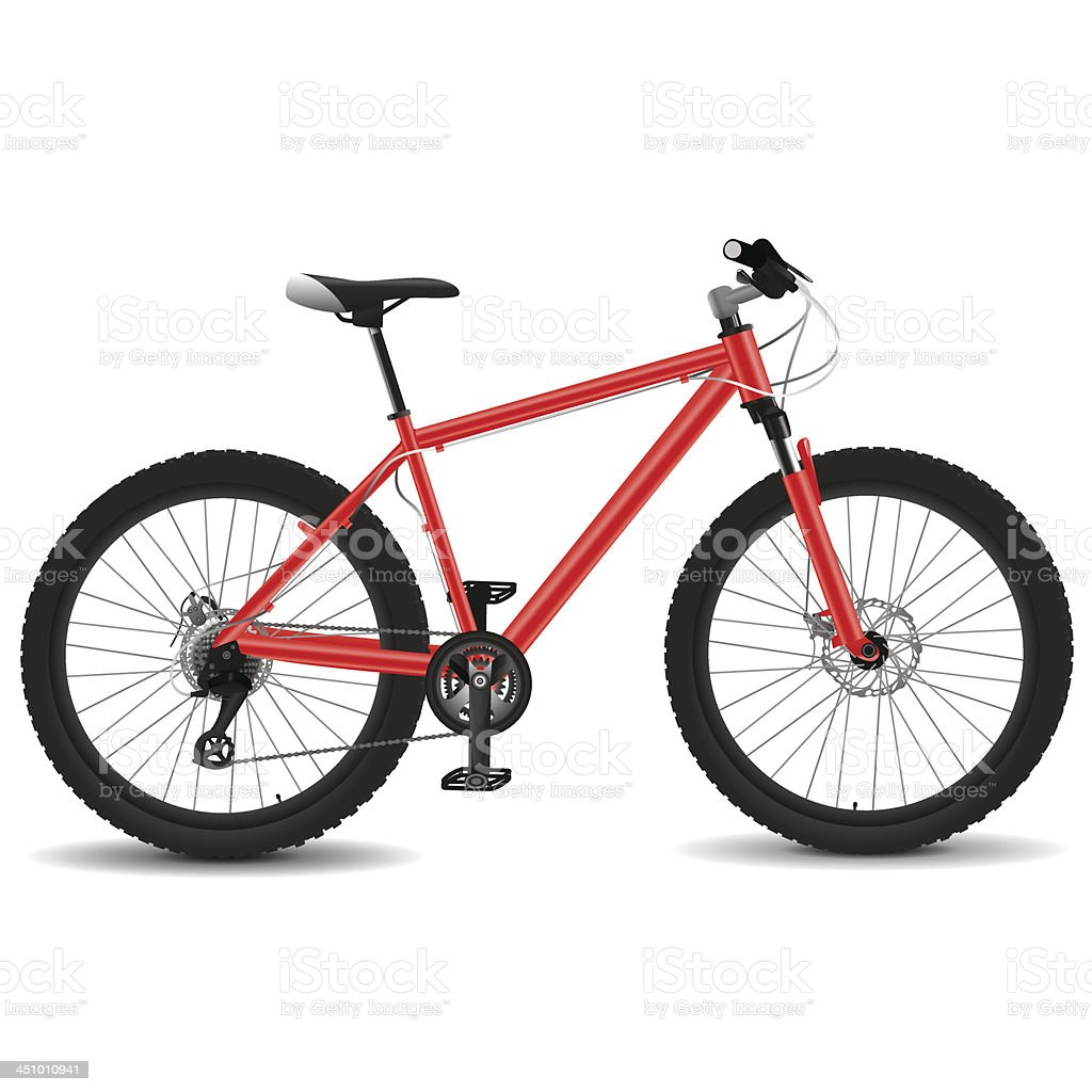 Red mountain bike royalty-free stock vector art