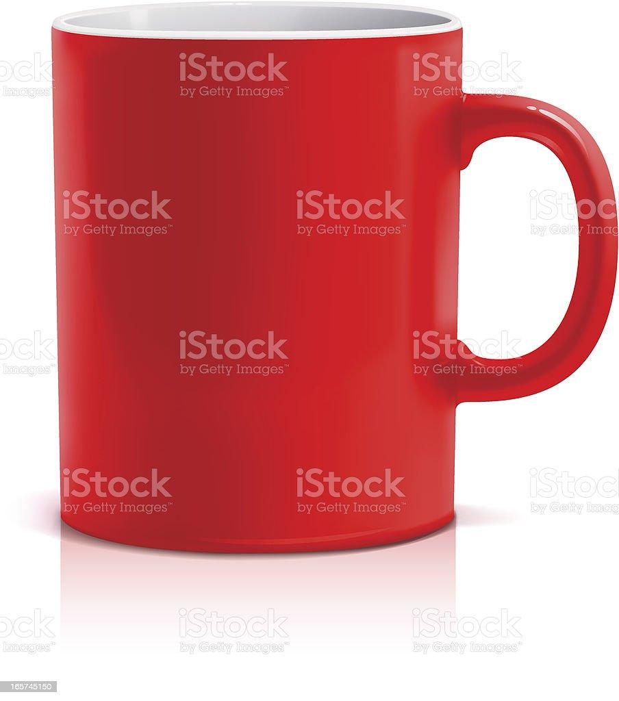 Red mug vector art illustration