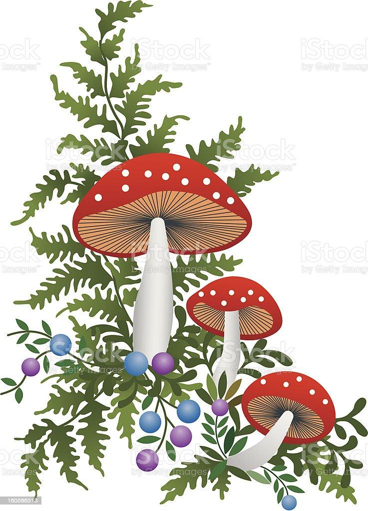 Red mushroom royalty-free stock vector art