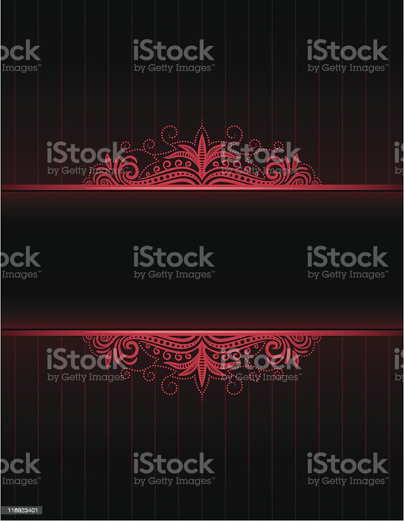 Red Neon Frame royalty-free stock vector art