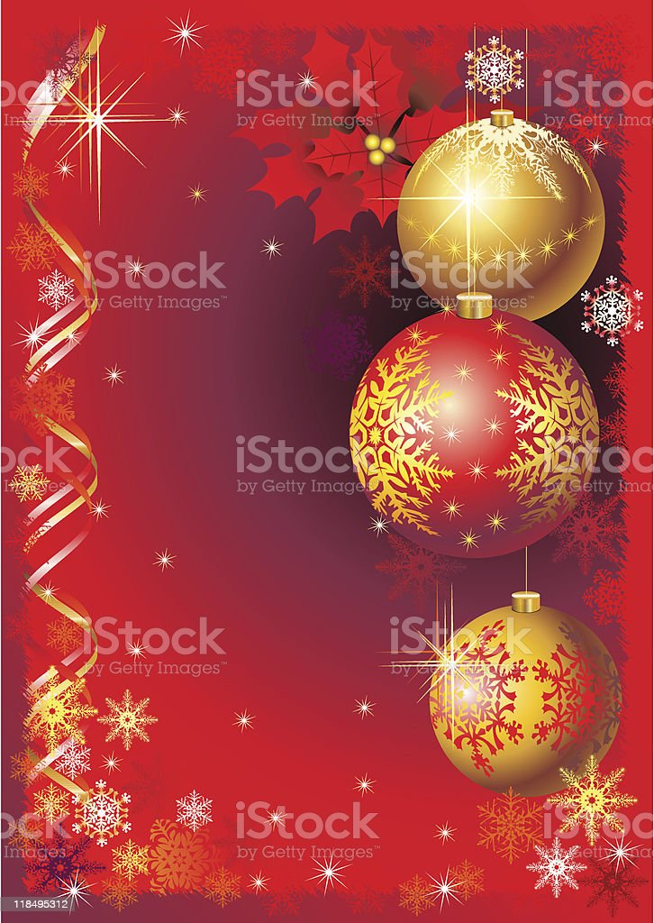 Red New Year greeting card royalty-free stock vector art