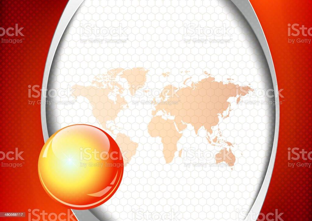 Rojo de oficina y negocio abstracto fondo illustracion libre de derechos libre de derechos