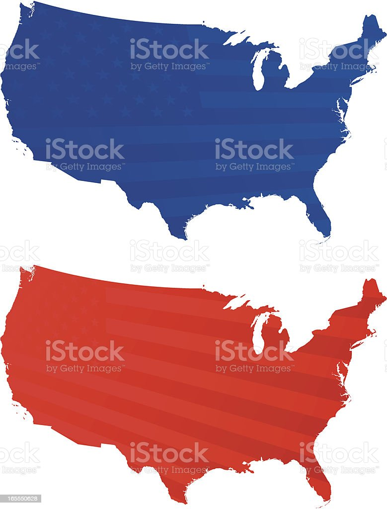 Red or Blue? royalty-free stock vector art