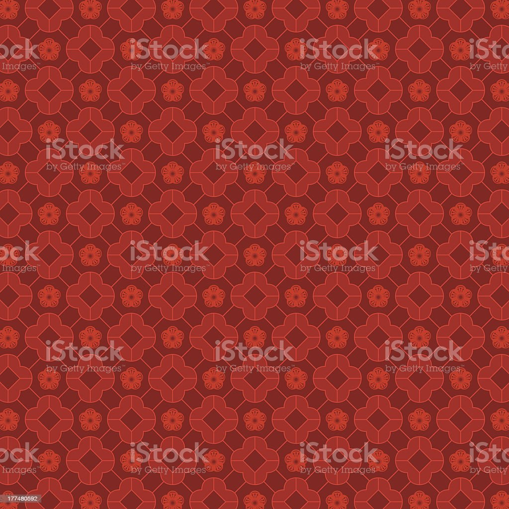 A red oriental Chinese seamless pattern royalty-free stock vector art