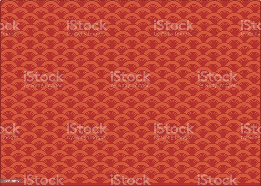 Red oriental wave. royalty-free stock vector art