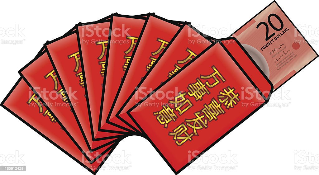 Red Packets vector art illustration