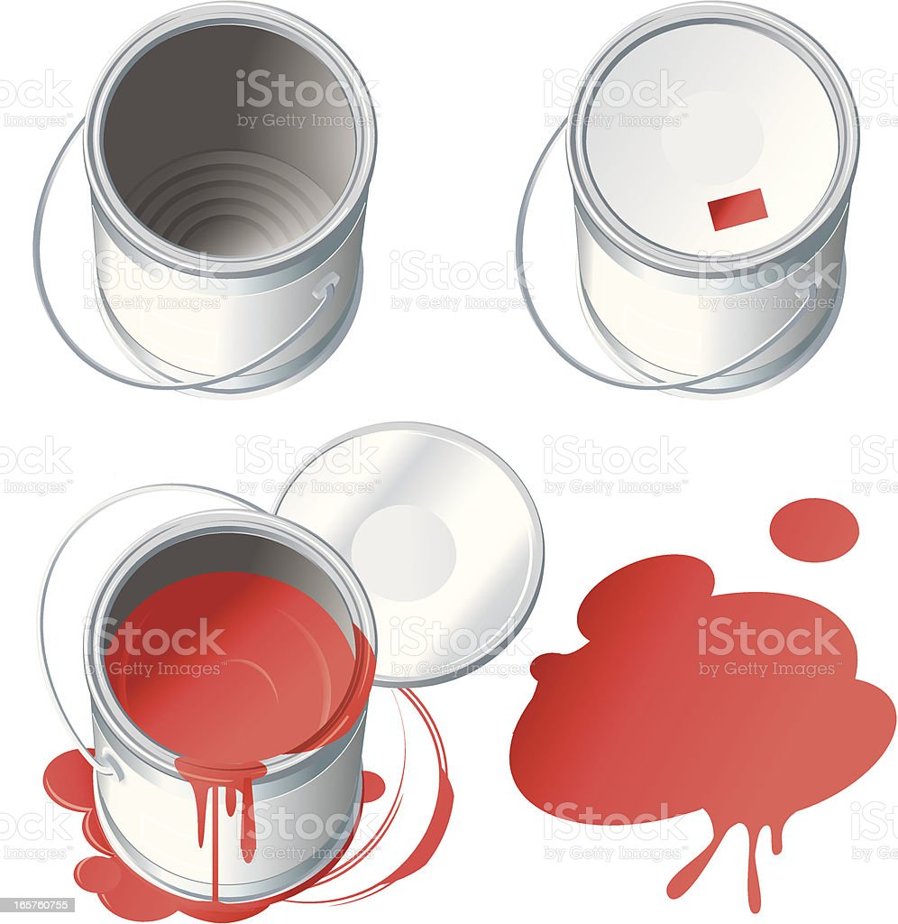 Red paint cans. royalty-free stock vector art