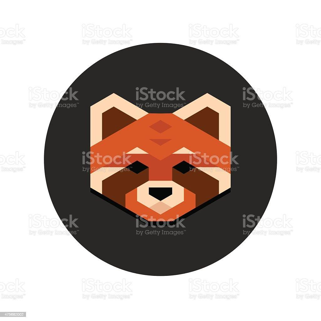 Red panda head vector art illustration