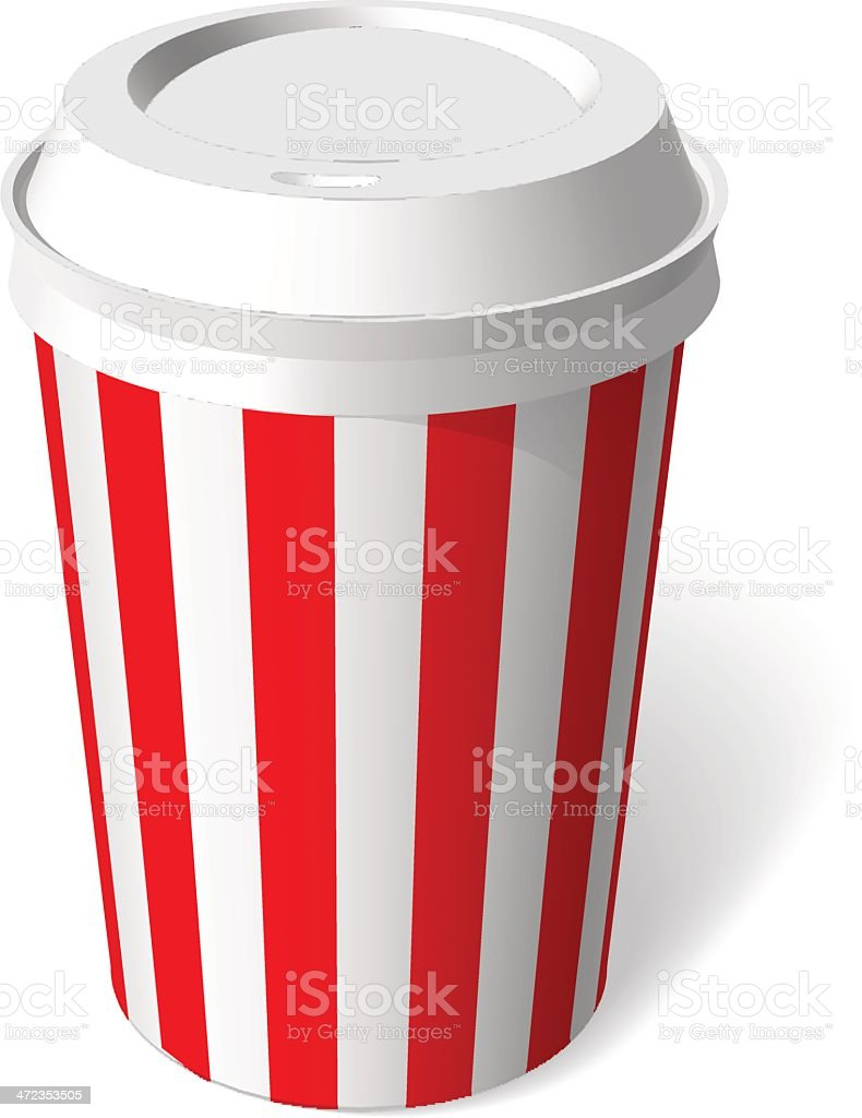 red paper cup blank template vector royalty-free stock vector art