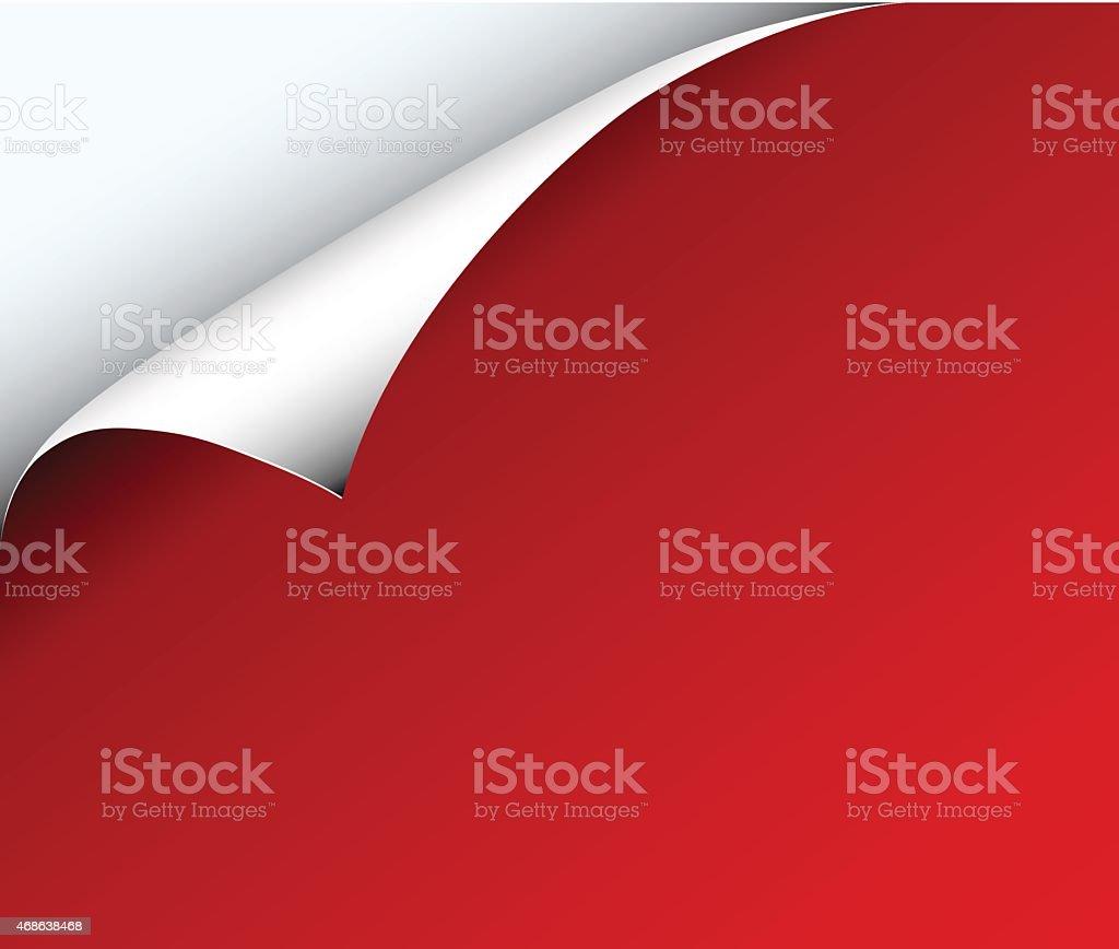 Red paper with corner vector art illustration