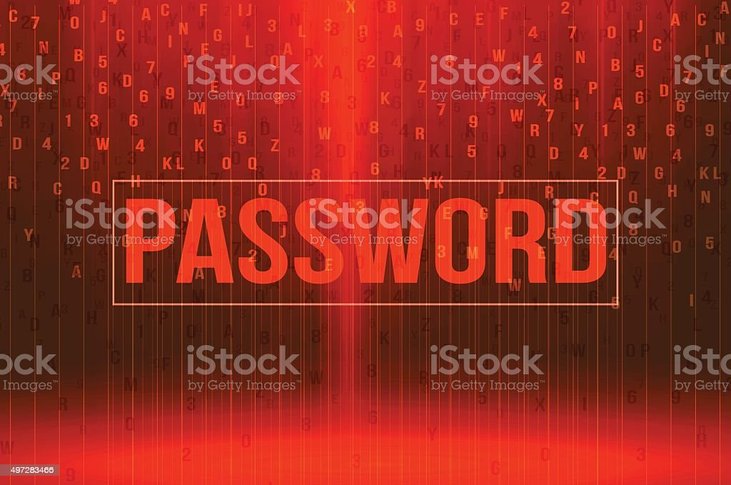 red password background security concept vector illustration vector art illustration