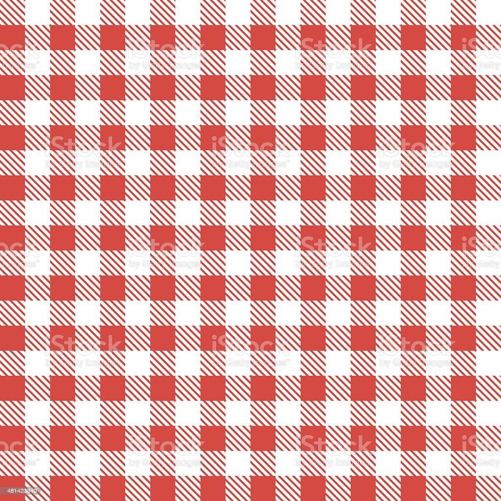 Red patterns tablecloths vector art illustration