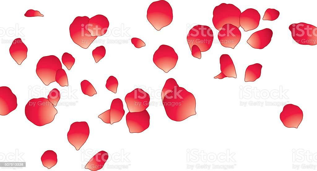 Red Petal Background vector art illustration