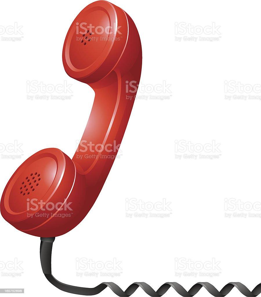Red Phone Receiver vector art illustration