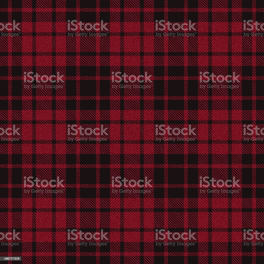 Red plaid tartan fabric 4 vector art illustration