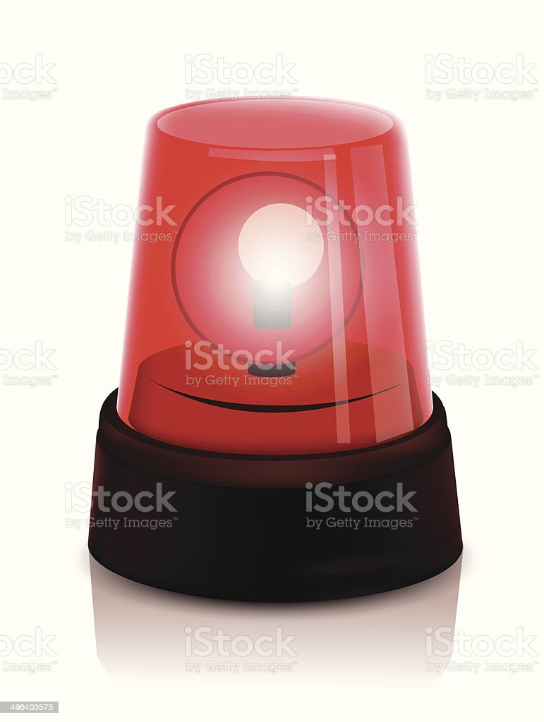 Police beacon rouge stock vecteur libres de droits libre de droits