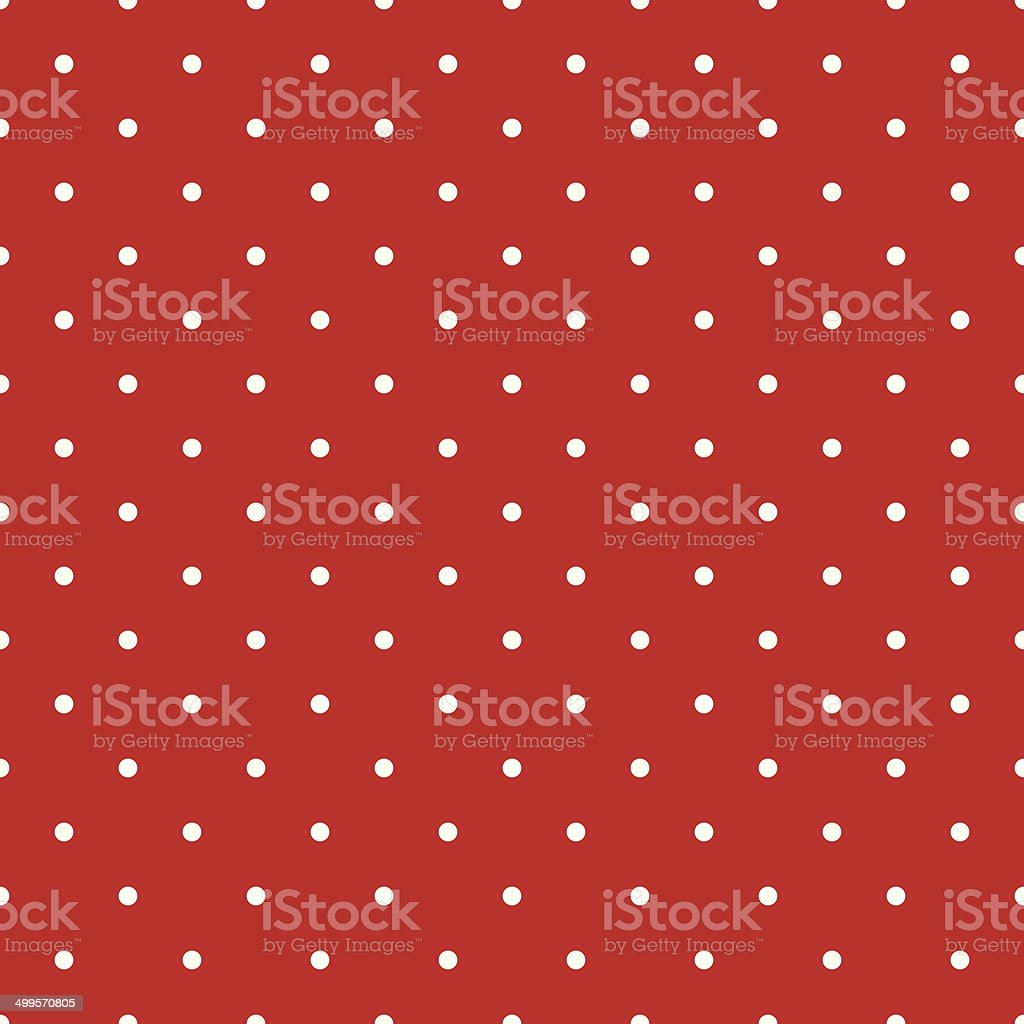 Red polka dot seamless pattern vector art illustration