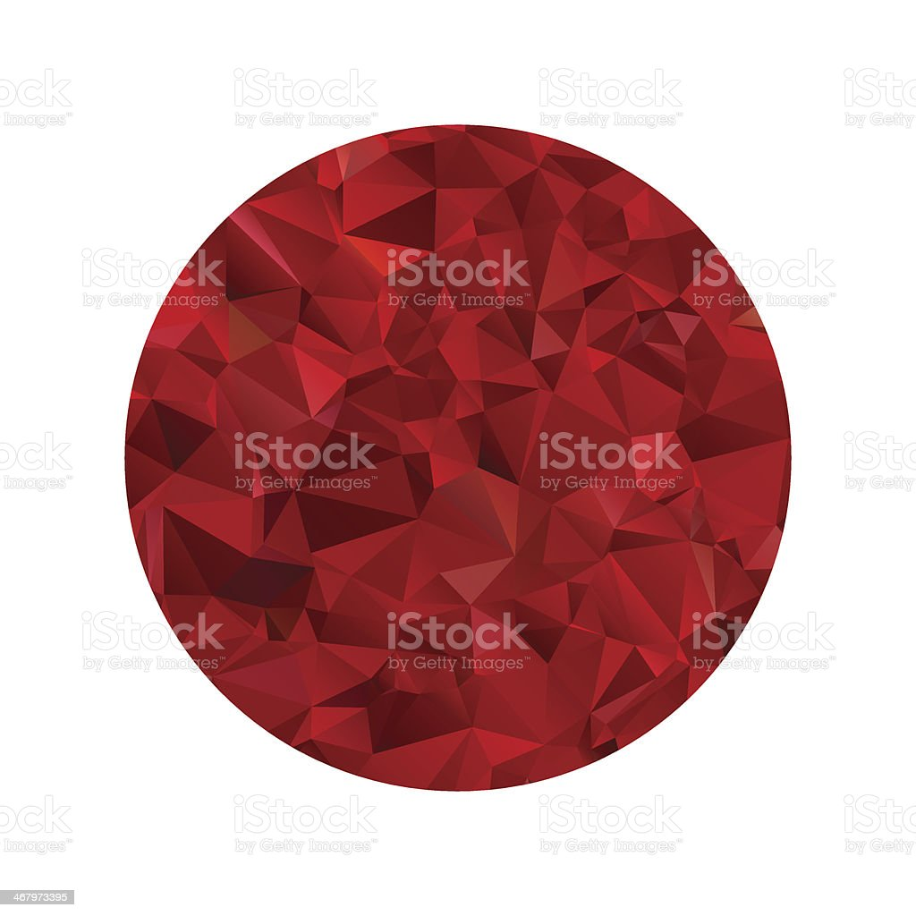 Red polygonal sphere royalty-free stock vector art