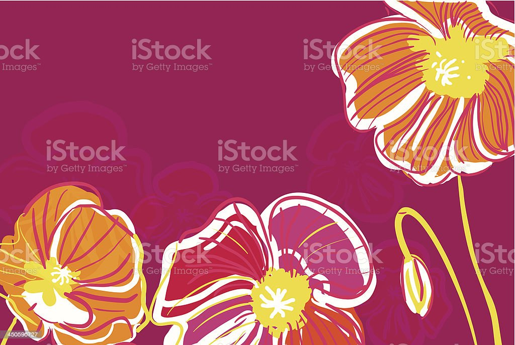 Red poppies royalty-free stock vector art