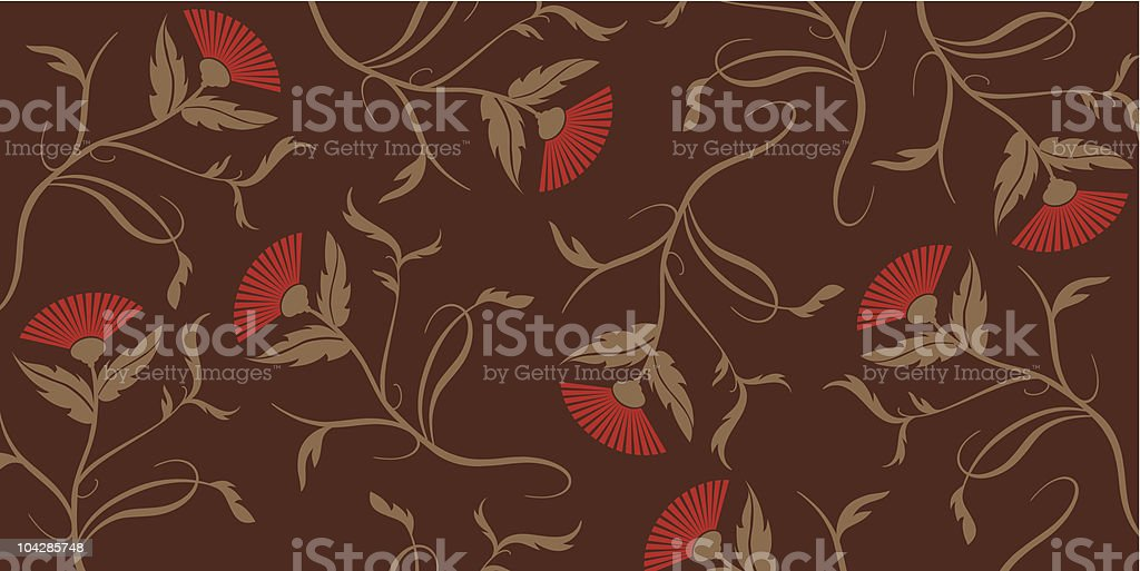 Red poppy on Chocolate royalty-free stock vector art